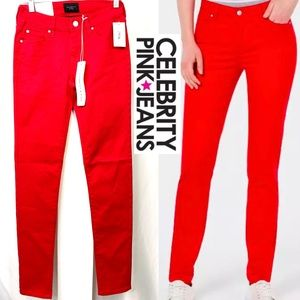 Celebrity Pink Juniors Tango Red Soft Skinny Jeans